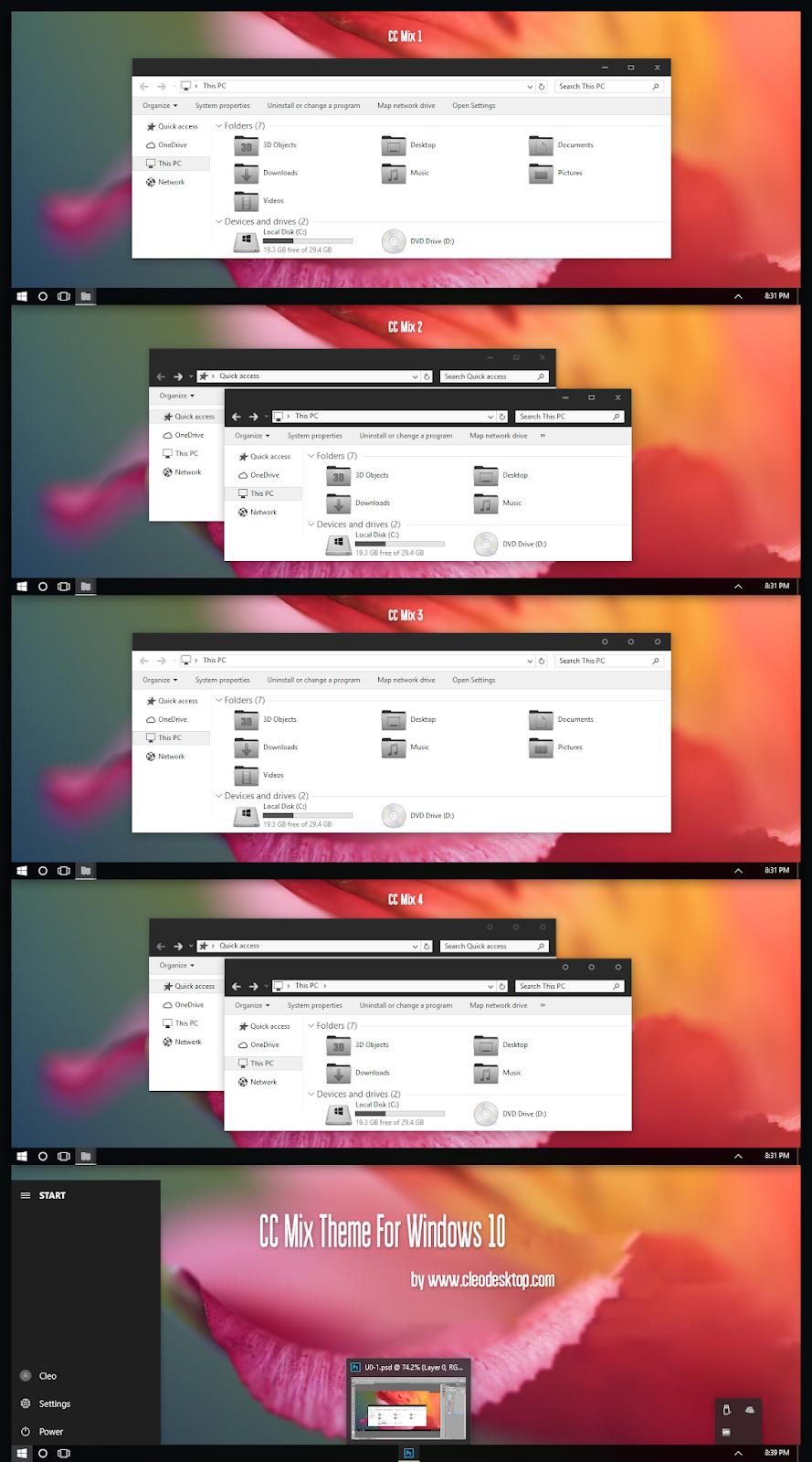 CC Mix Theme Windows10 November 2019 Update 1909