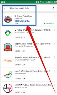 Silahkan download Aplikasi KHPulsa Paket Data di play store atau klik KLIK DISINI