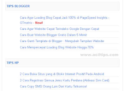 Cara Membuat Sitemap Daftar Isi di Blog Otomatis Sesuai Label (New!)