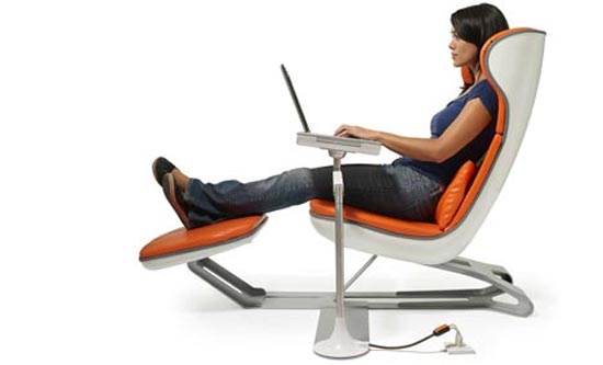 Ergonomic Chair With Leg Rest Bright Starts Ingenuity High Comfortable Laptop Workstation By Manuel Saez