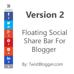 Add Floating Social Share Buttons to Blogger