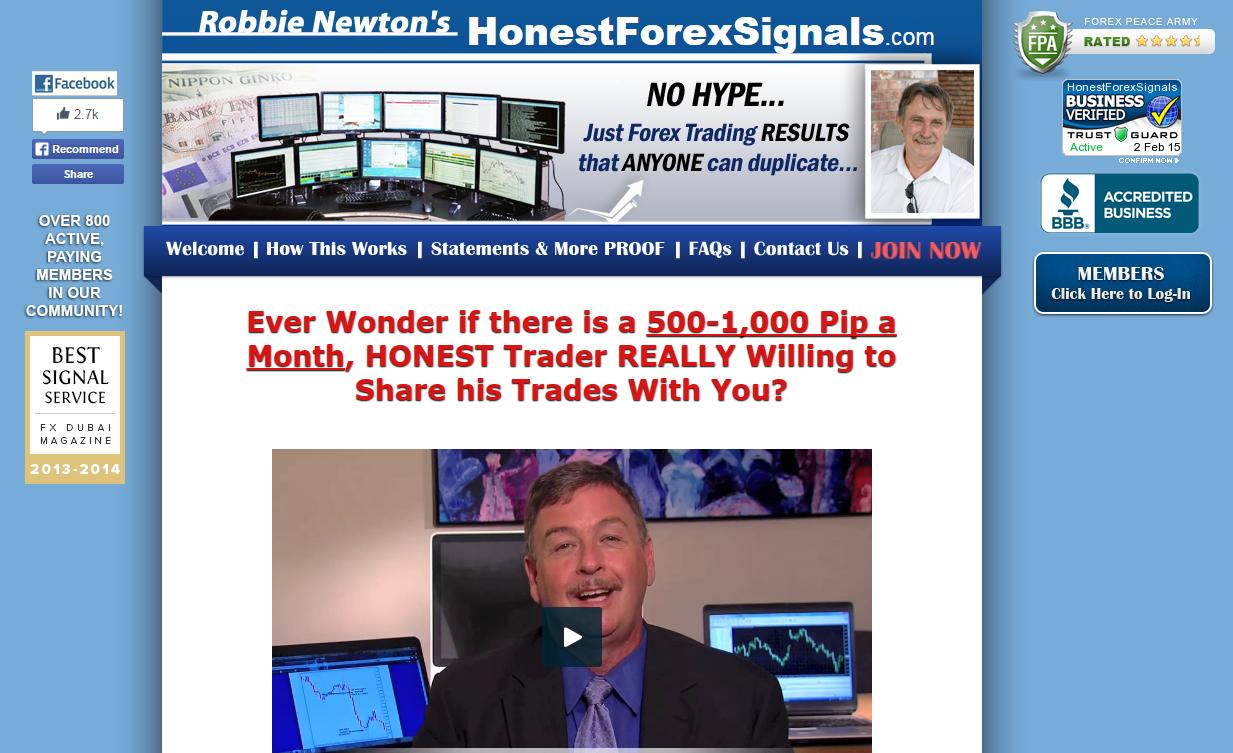 Honest forex signals
