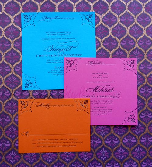 Real Card Studio Modern Indian Wedding Invitation – Modern Invitation Cards
