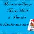 Material de Apoyo (Marzo-Abril) 2° Primaria Ciclo Escolar 2018-2019.