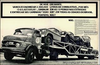 propaganda  Transauto - 1975, Transportes Especializados de Automoveis S.A. anos 70, cegonha década de 70, cegonha anos 70, Oswaldo Hernandez,