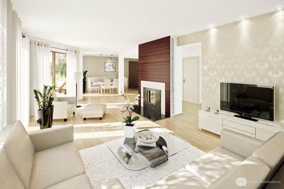 Penggunaan Kertas Dinding Yang Mempunyai Pelbagai Corak Namun Berwarna Cerah Boleh Menjadikan Ruang Tamu
