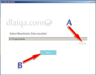 tentukan letak program aplikasi yang di-install