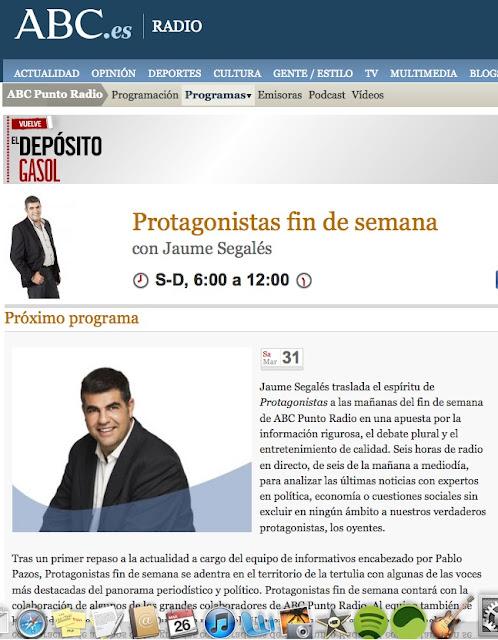 1001 fantasías eróticas en ABC Punto Radio 'Protagonistas fin de semana' con Teresa Viejo y Rosa Villacastín