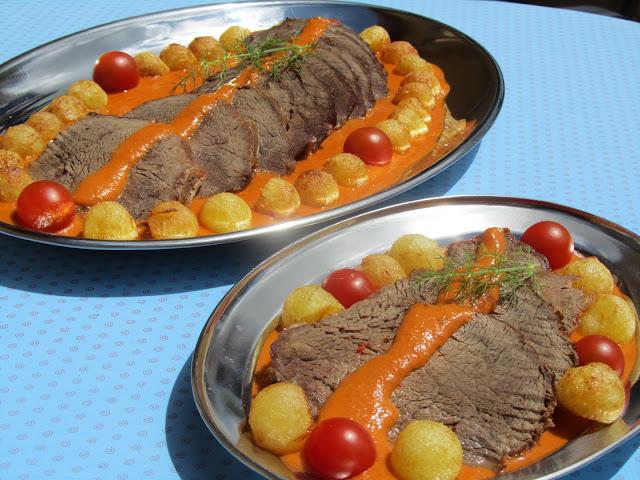 Roti (o redondo) de ternera en salsa Ana SEvilla