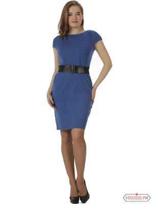 Vestido azul manga corta