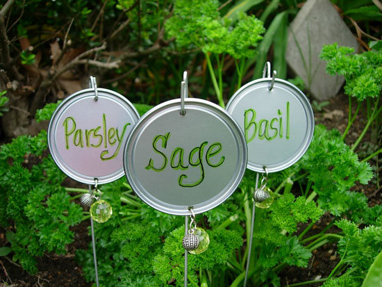 Green Thumbs and Mucky Paws: DIY Plant Markers {Blog Love}