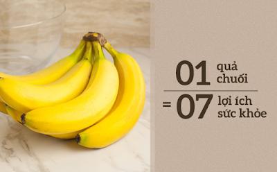 Ăn 1-2 trái chuối mỗi ngày mang lại ít nhất 7 tác dụng tuyệt vời này
