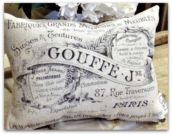 black printed pillow