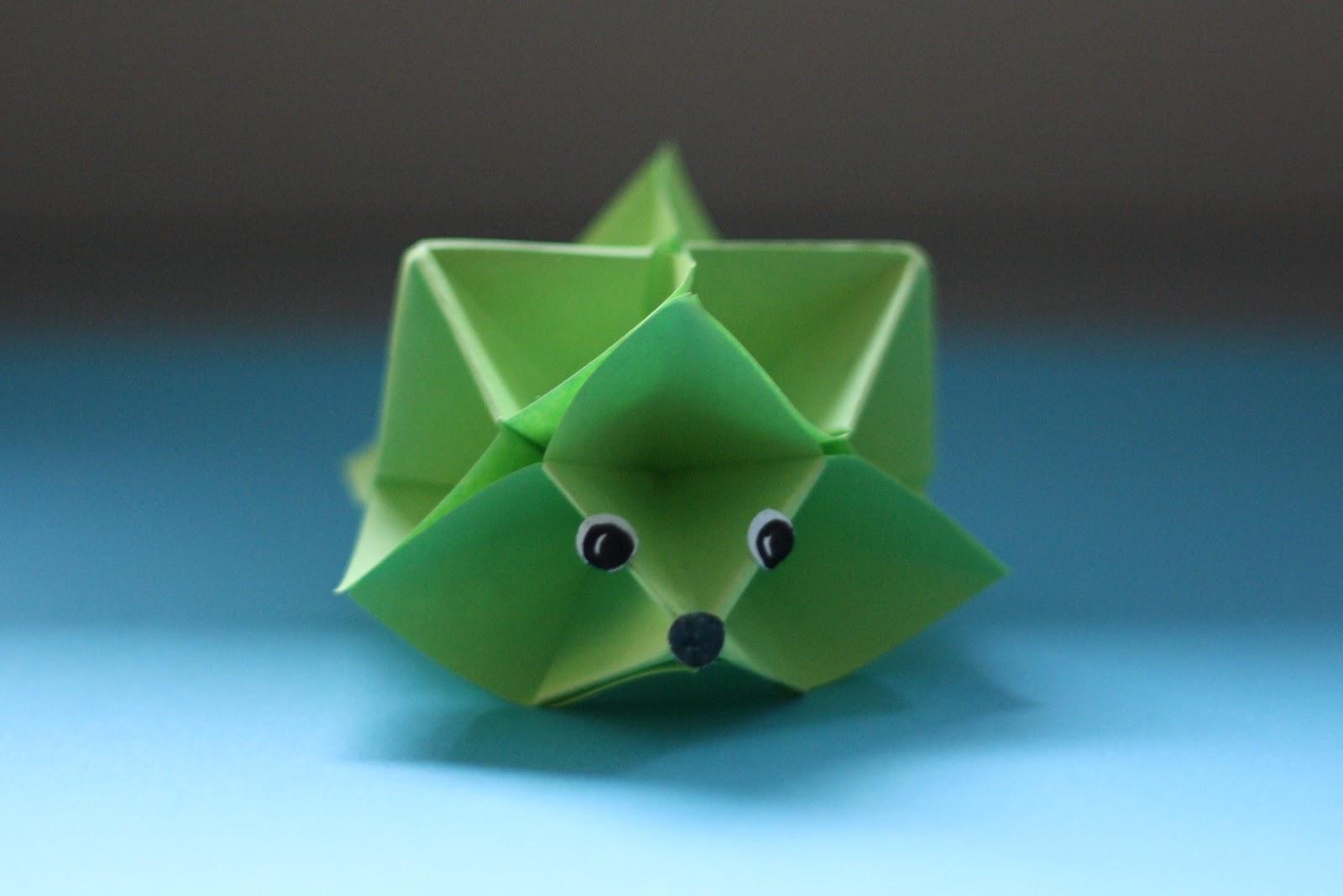 fraeulein unwirsch und die kleine schwester stacheltier igel origami. Black Bedroom Furniture Sets. Home Design Ideas