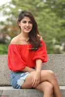 Rhea Chakraborty in Red Crop Top and Denim Shorts Spicy Pics ~  Exclusive 035.JPG