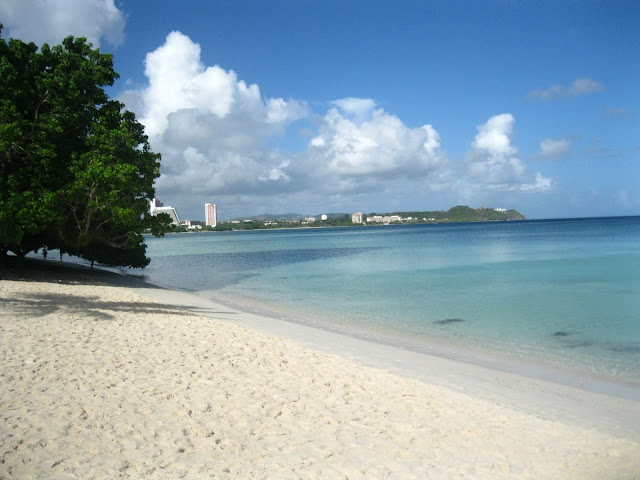 The beachfront in Guam USA