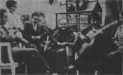 Rosita Quiroga con su familia en 1934
