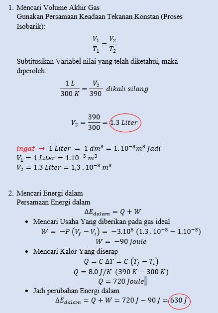 U(s,v) · entalpi h(s,p)=u+pv · energi lepas sama sekali helmholtz Contoh Soal Hukum 3 Termodinamika – Dikdasmen