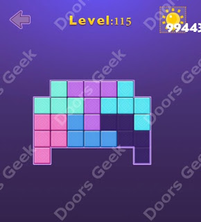 Cheats, Solutions, Walkthrough for Move Blocks Easy Level 115