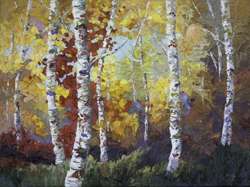 How To Paint Fall Trees In Acrylic