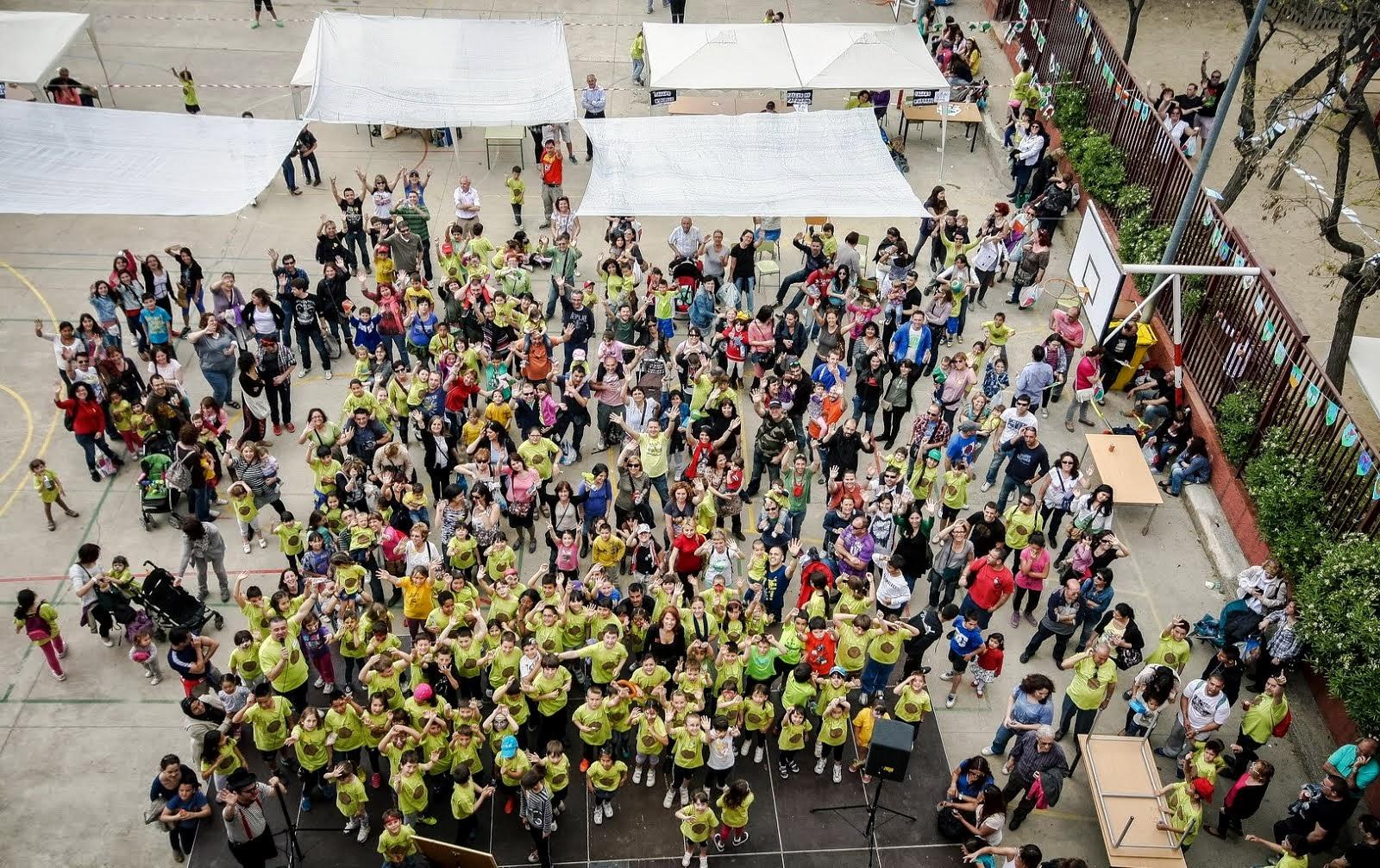 Foto realitzada des del terrat per David Amela a la Festa de la Primavera de 2013