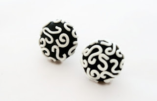 Matching Black Filigree Stud Earrings available in my Etsy Store by Lottie Of London