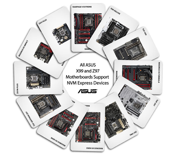 ASUS X99 and Z97 Motherboards