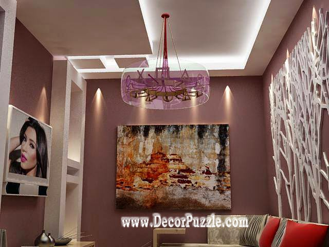 contemporary led ceiling lights for small living room interior 2017