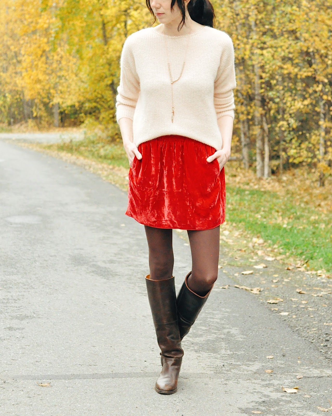 sophie sweater sezane isabel marant riding boots