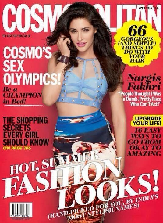Nargis Fakhri's Latest Magazine cover Cosmo April 2014
