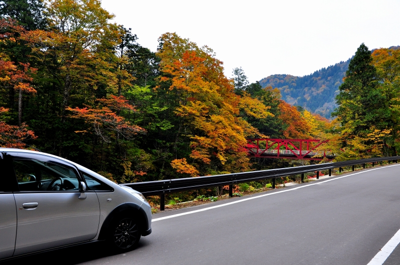 To the places various by car: 青森県 青森県道284号薬研佐井線 ...