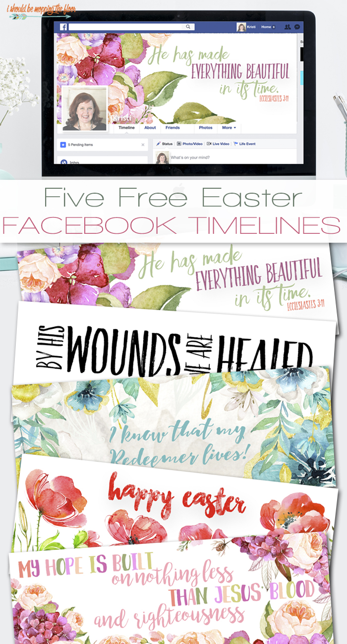 Free Easter Facebook Timelines | Five designs to choose from. Instant downloads.
