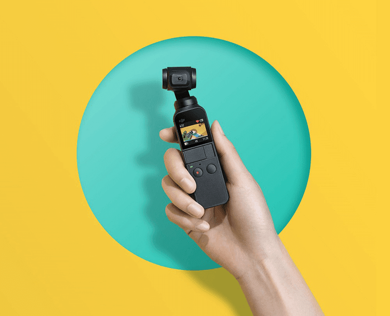 DJI Osmo Pocket gimbal camera with 4K stabilized video recording announced!