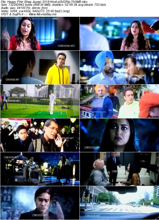 Happy Phirr Bhag Jayegi 2018 Hindi pDVDRip 700MB worldfree4u