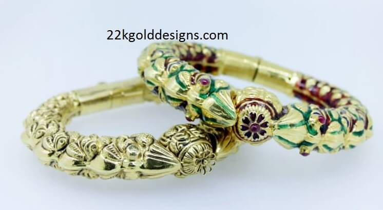 Antique Kundan Gold Karas