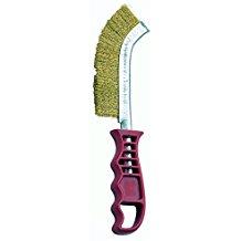 Bellota 50806-A - Cepillo manual (acero latonado, mango plástico, alambre recto, diámetro 0,3 mm)