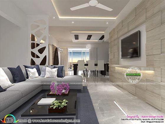 Flat room interior Kerala