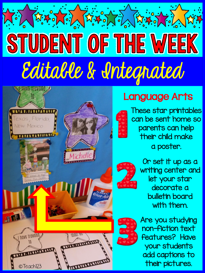 editable integrated star student