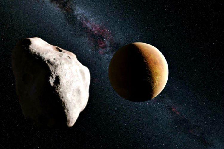 Ay'a birkaç milyar yıl evvel çarpan bir asteroit devasa bir çukur meydana getirdi.