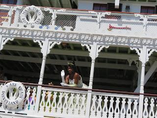 Princess Tiana on the Mark Twain Riverboat Disneyland