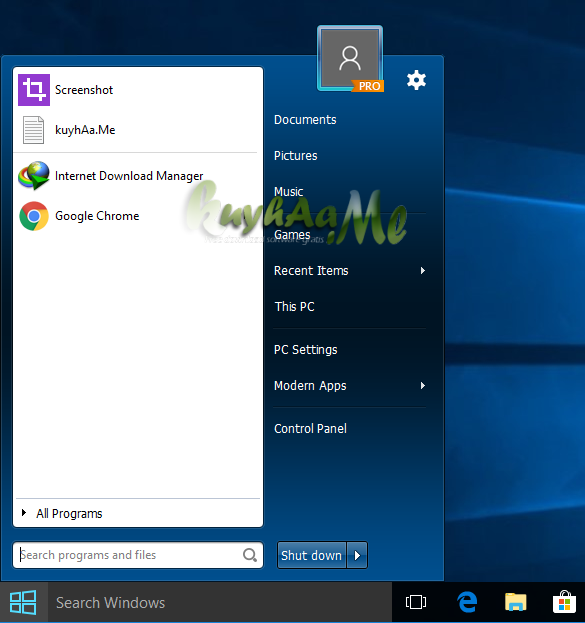 IObit Start Menu kuyhaa
