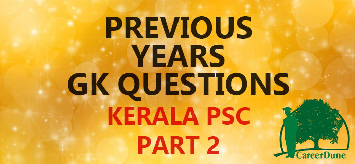 Kerala PSC Previous Years Question Bank Part 2