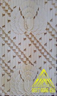 batu alam paras jogja atau batu paras putih ornamen batik handayani