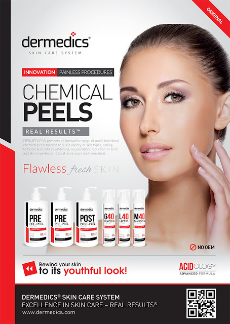 DERMEDICS® presents an innovative range of multi-functional chemical peels tailored to suit a variety of skin types, aiming to boost skin cells in whitening, rejuvenation, reduction of acne and skin imperfections (post-acne scars and blemishes).