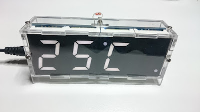 OH2DD DIY Radioamatööri hamsack kellon lämpötilanäyttö