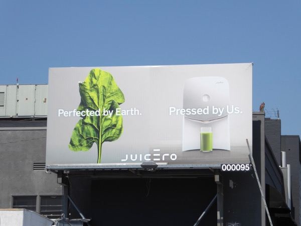 Perfected by Earth Juicero billboard
