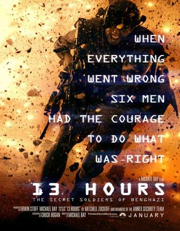 Download 13 Hours The Secret Soldiers of Benghazi 2016 English 700MB Cam