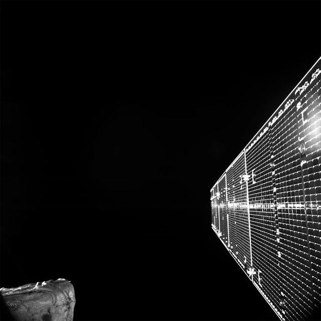 primeira foto da nave espacial BepiColombo, que está indo para Mercúrio