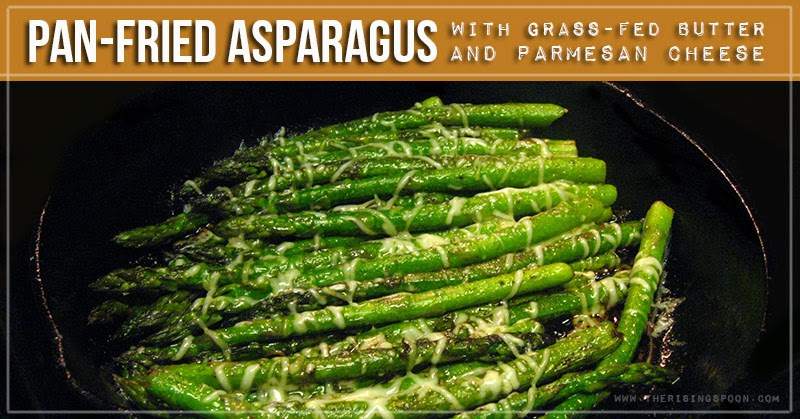 One of my favorite techniques for fixing asparagus is pan-fried with grass-fed butter and seasonings until barely tender. By pairing asparagus with a quality fat like pastured butter, ghee, or extra virgin olive oil, your body can absorb the fat-soluble vitamins A, K, and E that occur naturally in this yummy springtime vegetable.