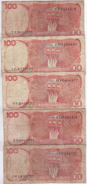 100 rupiah burung dara mahkota tahun 1984